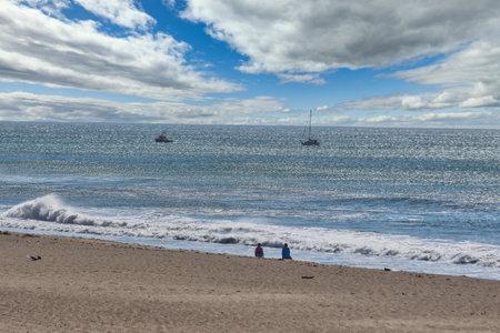 Santa Ana winds along Oxnard Shore in California