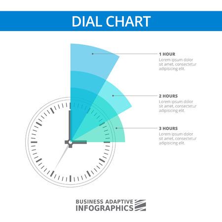 gestion del tiempo: Multicolor plantilla de infograf�a editable de gr�fico de l�nea