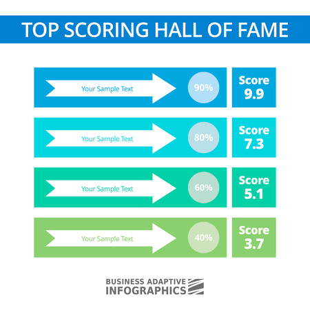scoring: Multicolored concept of top scoring hall of fame Illustration