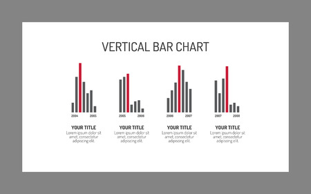 vertical bar: Editable infographic template of vertical bar chart, multicolored