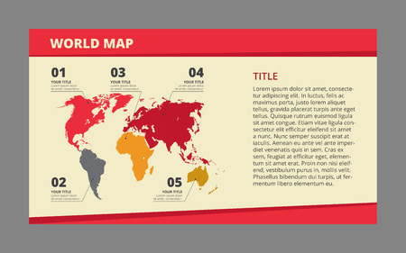 references: Template of world map with five references including titles and subtitles, detailed description is on right