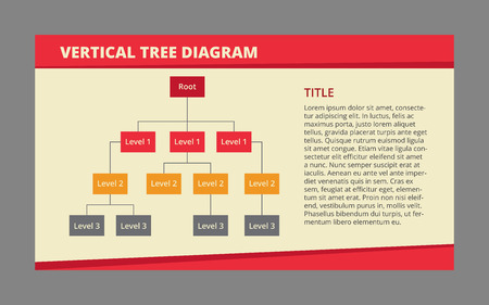 Editable Vector Infographic Template Of Three-level Tree Diagram ...