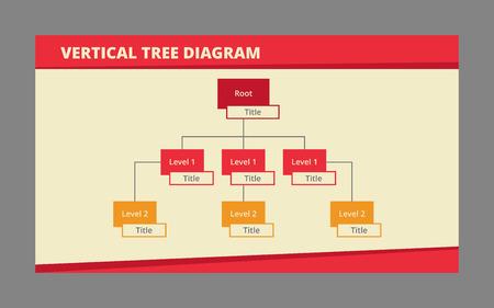 diagrama de arbol: vectorial editable plantilla de infografía del diagrama de árbol de dos niveles con el campo título separado para cada cuadro