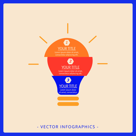 Editable infographic template of statistic chart representing glowing light bulb, multicolored version