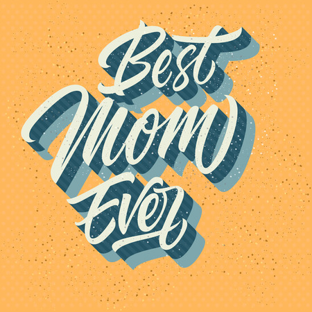 sandy: Best mom ever inscription isolated on sandy background