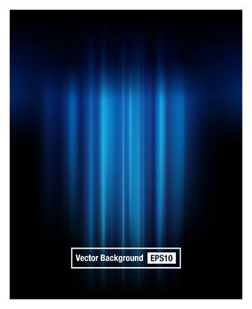 fondo azul telón con punto de luz. ilustración vectorial