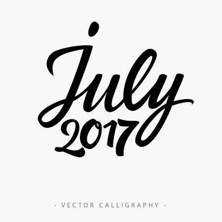 cronologia: Negro caligr�fica veintinueve de julio de diecisiete inscripci�n en el fondo blanco