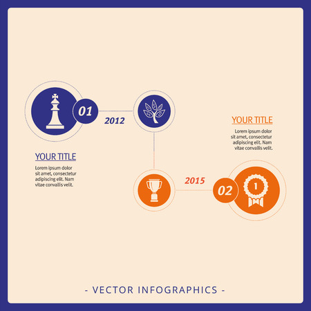 achievable: Multicolored template of company achievement infographics with icons and sample text