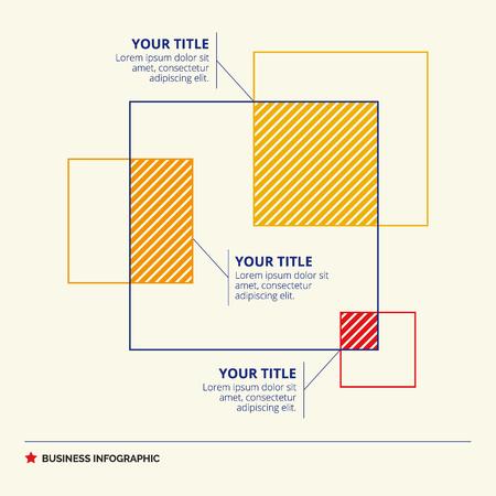 Venn-Diagramm-Vorlage Repräsentieren Quadrate Mit Titel Und ...