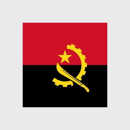 machete: Set   vector icons with Angola flag Illustration