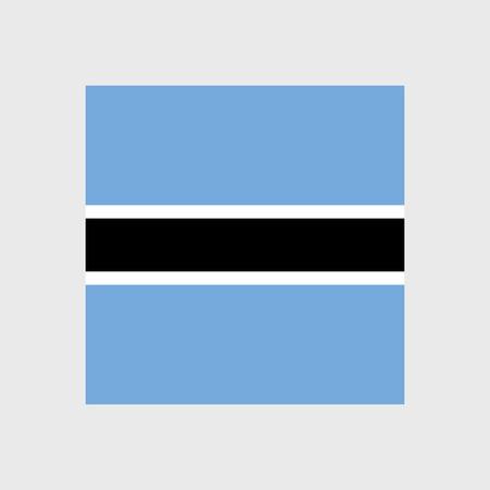 Set   vector icons with Botswana flag Illustration