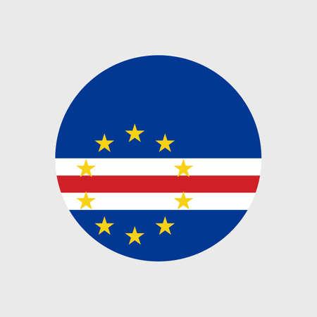 estrellas cinco puntas: Set   vector icons with Cape Verde flag Vectores
