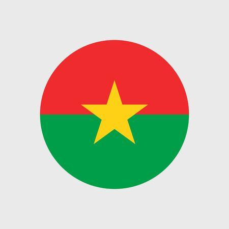 burkina faso: Set   vector icons with Burkina Faso flag