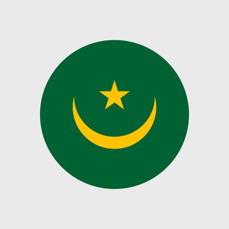 estrellas cinco puntas: Fije los iconos del vector con la bandera de Mauritania