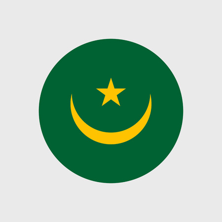 mauritania: Set   vector icons with Mauritania flag
