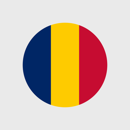chad: Set   vector icons with flag   Republic   Chad