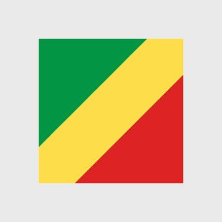 republic of the congo: Set   vector icons with flag   Republic   Congo