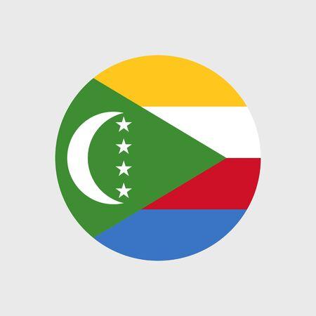 comoros: Set   vector icons with flag   Union   Comoros