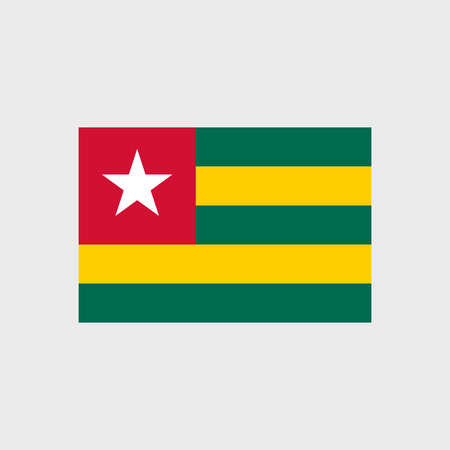 togo: Set   vector icons with Togo flag Illustration