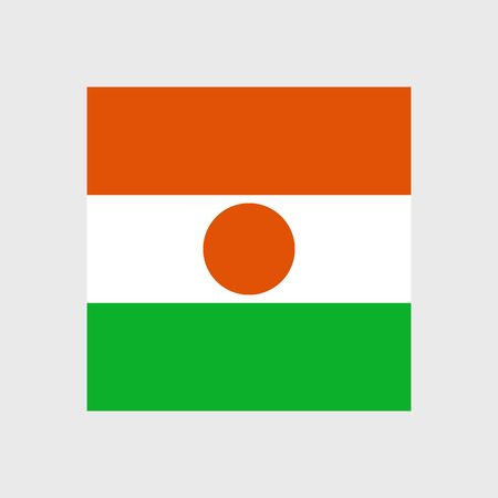 niger: Set   vector icons with Niger flag Illustration