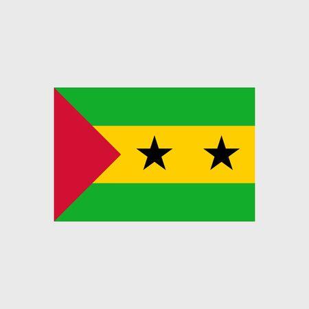 principe: Fije los iconos del vector con Santo Tomé y Principe bandera Vectores