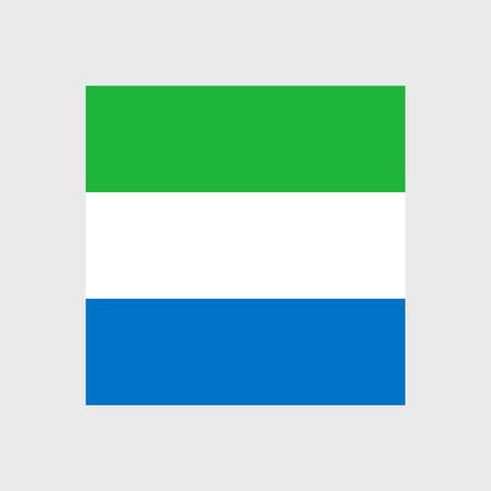 sierra leone: Set   vector icons with Sierra Leone flag