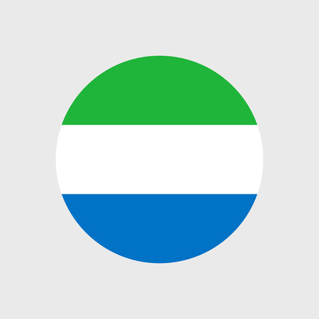 sierra leone: Set   vector icons with Sierra Leone flag