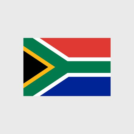 south africa flag: Set   vector icons with South Africa flag