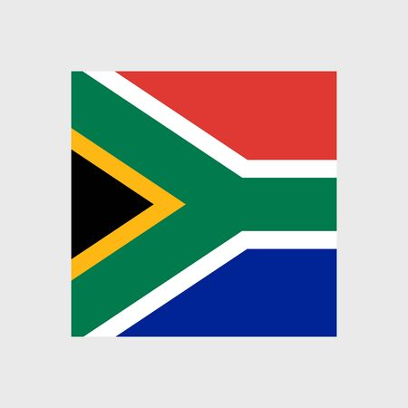 south african flag: Set   vector icons with South Africa flag