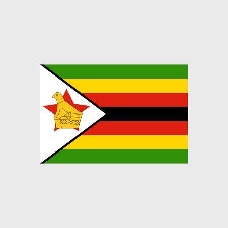 Set   vector icons with Zimbabwe flag Illustration
