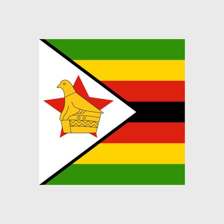 zimbabwe: Fije los iconos del vector con la bandera de Zimbabwe Vectores