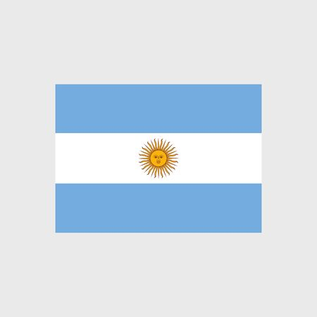 Set of vector icons with Argentina flag Argentine