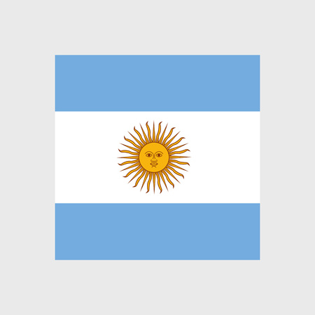 argentina flag: Set of vector icons with Argentina flag Argentine Illustration