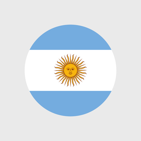 bandera de argentina: Set of vector icons with Argentina flag Argentine Vectores