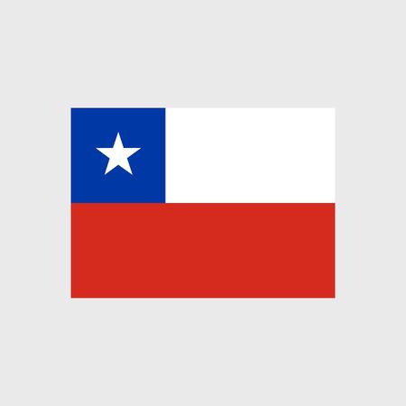 estrellas cinco puntas: Conjunto de iconos del vector con la bandera de Chile Vectores