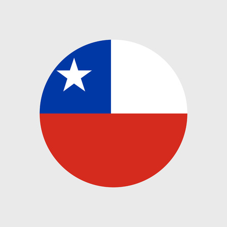 chile flag: Set of vector icons with Chile flag