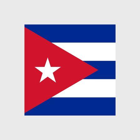 cuba flag: Set of vector icons with Cuba flag