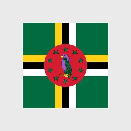 estrellas cinco puntas: Conjunto de iconos del vector de la bandera de Dominica Vectores