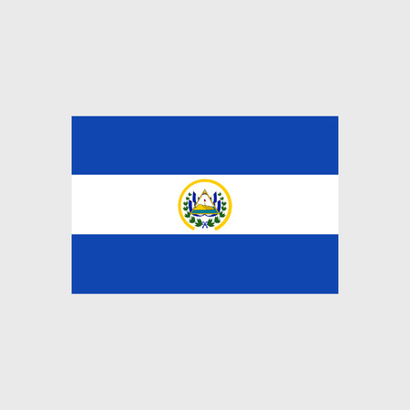bandera de el salvador: Conjunto de iconos del vector de la bandera de El Salvador Vectores