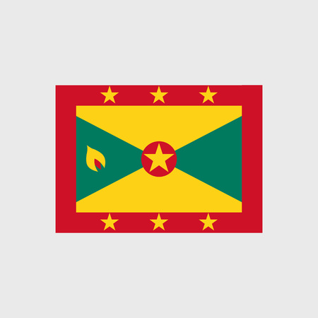 estrellas cinco puntas: Set of vector icons with Grenada flag