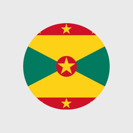 estrellas cinco puntas: Conjunto de iconos del vector de la bandera de Granada