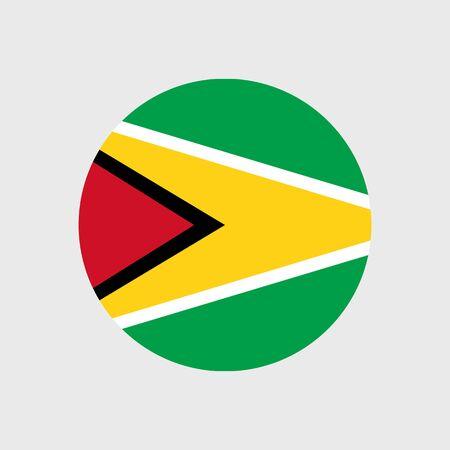 estrellas cinco puntas: Conjunto de iconos del vector de la bandera de Guyana