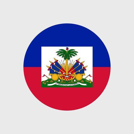 haiti: Set of vector icons with Haiti flag Illustration