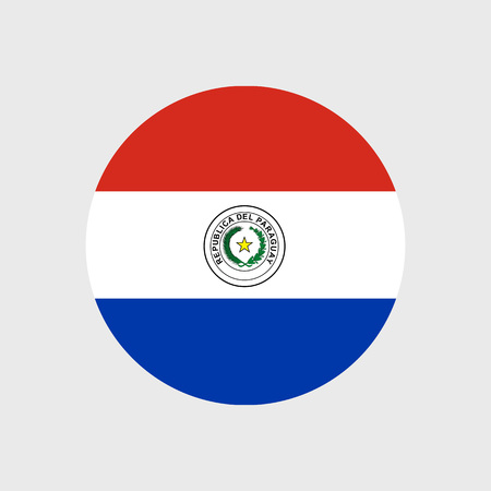 bandera de paraguay: Conjunto de iconos del vector de la bandera de Paraguay