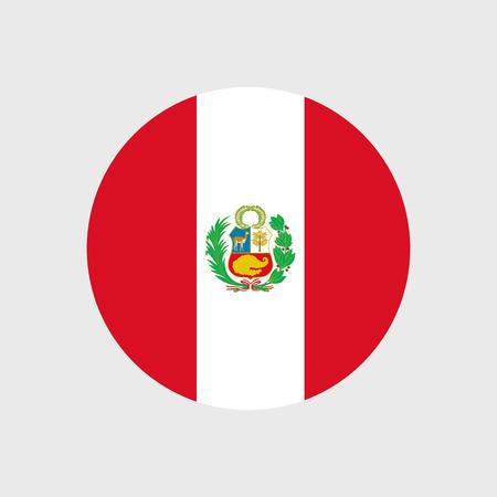 bandera de peru: Conjunto de iconos vectoriales con bandera de Perú Vectores
