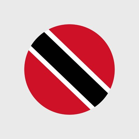 trinidad and tobago: Set of vector icons with Trinidad and Tobago flag Illustration