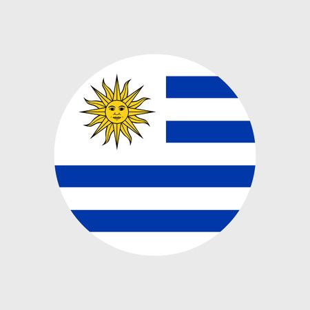 bandera de uruguay: Conjunto de iconos del vector con la bandera de Uruguay Vectores