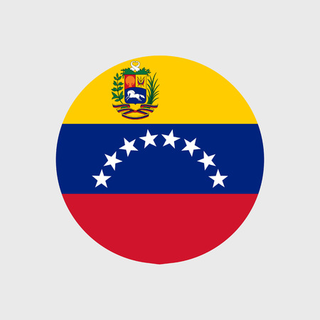 venezuela: Set of vector icons with Venezuela flag