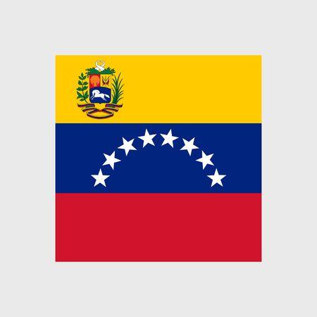 venezuela flag: Set of vector icons with Venezuela flag
