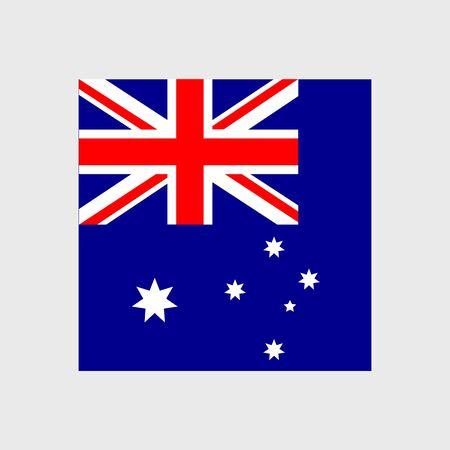 estrellas cinco puntas: Conjunto de iconos del vector con la bandera de Australia
